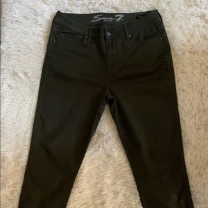 NWOT Seven 7 Olive Army Green Stretch Jeans 12